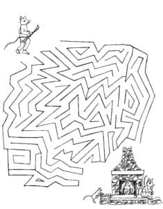 лабиринт мышка и камин