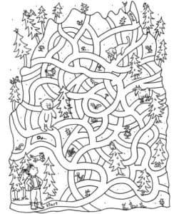 лабиринт лес
