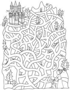 лабиринт мальчик идет к замку