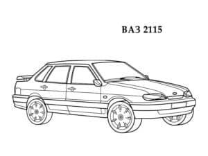 ВАЗ 2115 раскраска