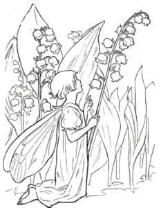девочка бабочка и ландыш