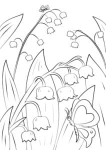 ландыши и бабочки