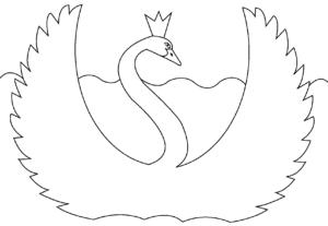 лебедь с короной