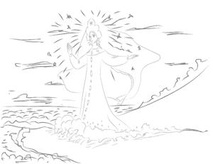 Принцесса во лбу звезда горит