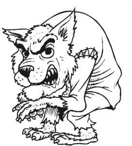 Волк Леон раскраска для ребенка