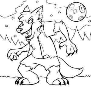 Хитрый волк раскраска
