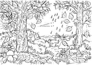 детская раскраска лес