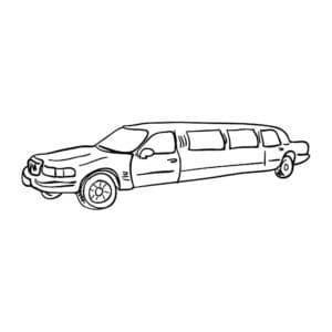 Лимузин раскраска для ребенка