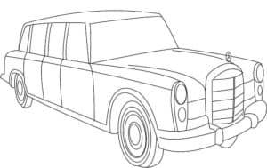 Старинный лимузин