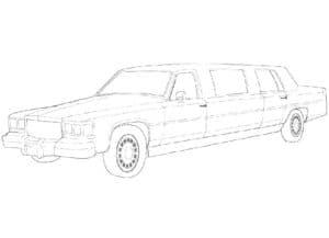 Детская раскраска лимузин