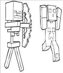 Майнкрафт человек стреляет из лука