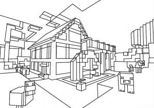 Большой дом из майнкрафта