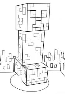 Майнкрафт человек с двумя кубиками