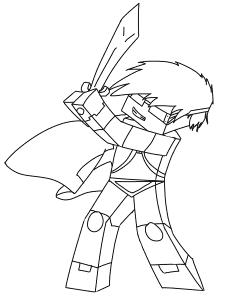 Майнкрафт с мечом раскраска