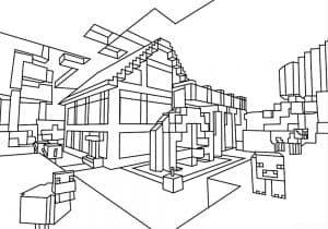 Дом майнкрафт