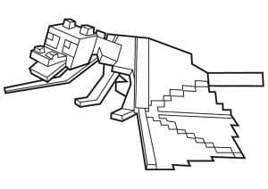 Майнкрафт дракон детская раскраска