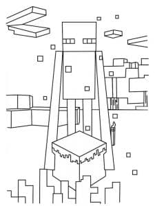 Майнкрафт человек и кубик