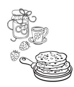 Блины и варенье с чаем