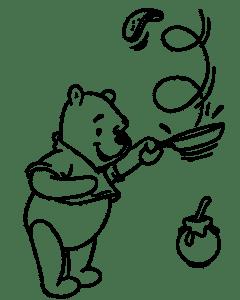 Винни Пух с блинами
