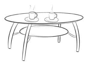 чашки на столе