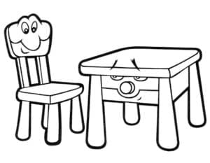 живой стул и стол