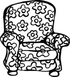 кресло с цветочками