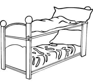 двухэтажная кровать раскраска детская