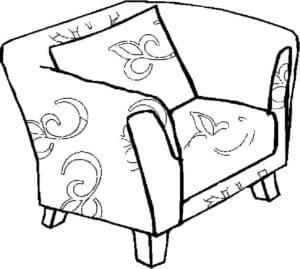 кресло с узорами