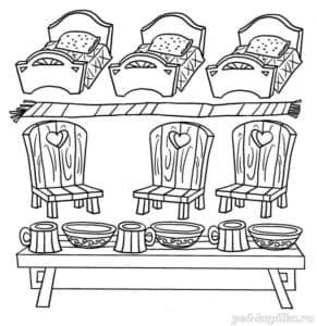 стулья и кровати раскраска