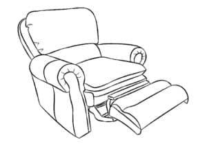 кресло с роликом для ног