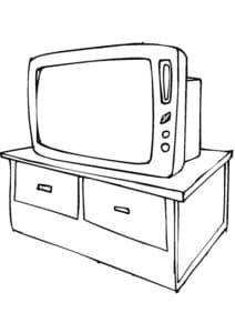 телевизор на столе