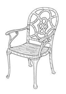 плетенный стул