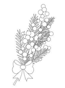 Цветок мимоза с бантиком