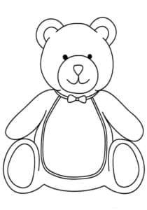 медведь раскраска детская