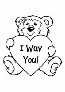 Медведь держит большое сердце
