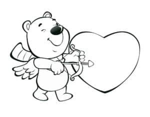 Медвежонок с луком и стрелой