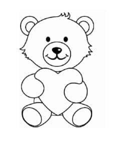 Медведь с красивым сердцем