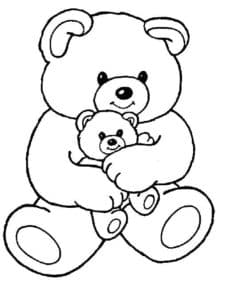 два плюшевых медведя