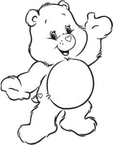 Медведь раскраска для ребенка