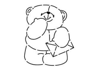 медведь с конвертом