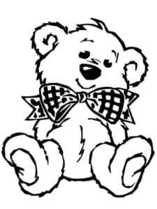 плюшевый медвежонок с бантиком