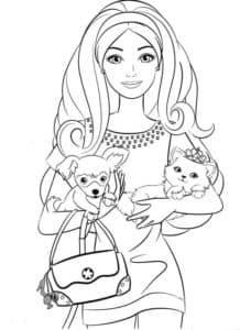 модница с собачкой и котенком