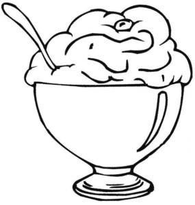 мороженное в чашке