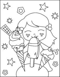 девочка с мороженным