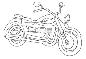 Мотоцикл раскраска