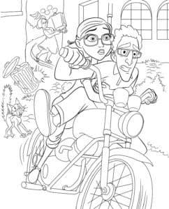 Мужчина с женщиной на мотоцикле