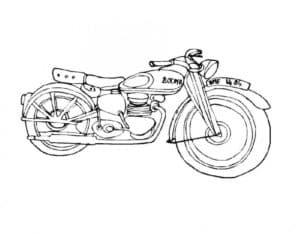 Мотоцикл красивая раскраска