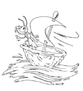 Муравей на кораблике