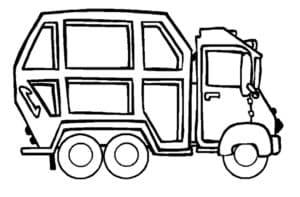 маленький мусоровоз машина