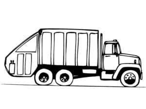 мусоровоз едет